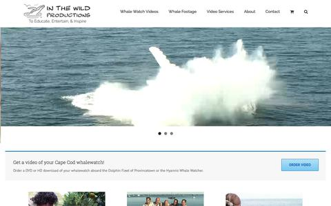 Screenshot of Home Page inthewildproductions.com - Video Production Services and Whale Footage - In the Wild Productions - captured June 7, 2017