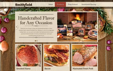 Screenshot of Products Page smithfield.com - Products - Smithfield.com | Flavor hails from Smithfield. - captured Feb. 16, 2016