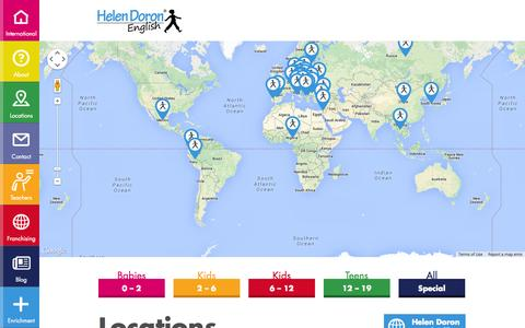 Screenshot of Locations Page helendoron.com - Find a Helen Doron English Learning Centre - captured Oct. 2, 2014