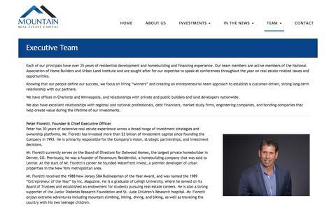 Screenshot of Team Page mrec.com - Executive Team  |  Mountain Real Estate Capital - captured Oct. 21, 2017