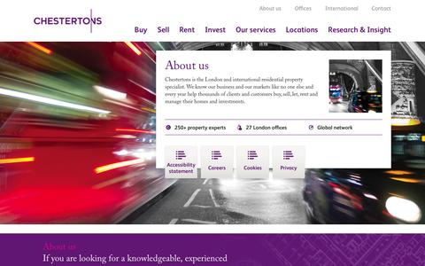 Screenshot of About Page chestertons.com - About us - Chestertons Estate Agents - captured Sept. 19, 2014