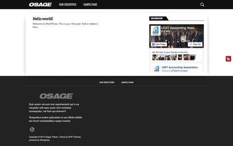 Screenshot of Home Page uoitaccounting.com - UOIT Accounting Association - captured Nov. 18, 2016