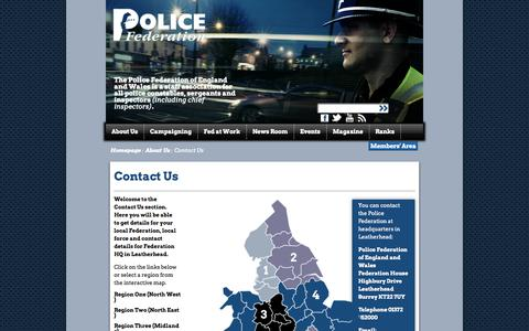 Screenshot of Contact Page polfed.org - Contact Us - captured Oct. 3, 2014