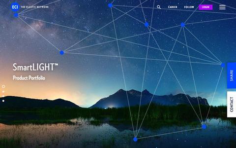 Screenshot of Products Page ecitele.com - SmartLight | ECI - The Elastic Network - captured Oct. 4, 2016