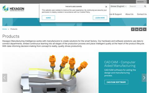 Screenshot of Products Page hexagonmi.com - Products | Hexagon Manufacturing Intelligence - captured July 12, 2018