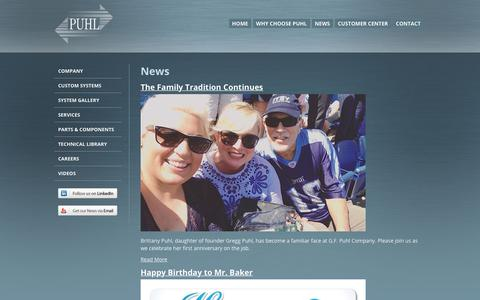 Screenshot of Press Page gfpuhl.com - News - captured July 14, 2018