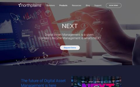 Screenshot of Products Page northplains.com - NEXT   Northplains - captured May 3, 2019