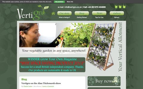 Screenshot of Press Page vertigro.co.uk - Your Vertical Allotment: vertical growing made easy | Useful stuff for you... | Vertigro Vertical Allotments - captured Oct. 7, 2014