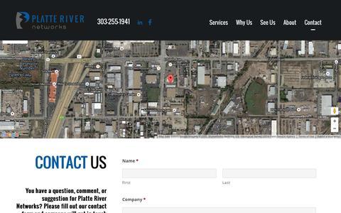 Screenshot of Contact Page platteriver.com - Inquiries - Platte River Networks - captured Nov. 6, 2015