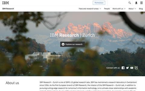 IBM Research   Zurich