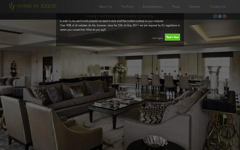 Screenshot of Home Page living-inspace.co.uk - Luxury Interior Designers London   Living In Space - captured Jan. 31, 2016