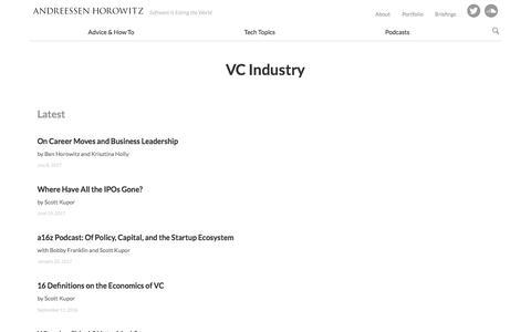 VC industry – Andreessen Horowitz