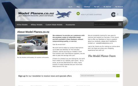 Screenshot of About Page modelplanes.co.nz - About  Us Model Planes.co.nz - captured Oct. 7, 2014