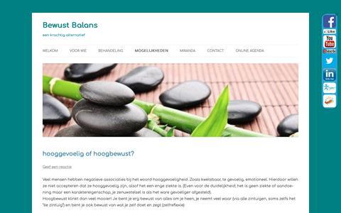 Screenshot of Blog bewustbalans.info - Blog - Bewust Balans - captured Nov. 6, 2018