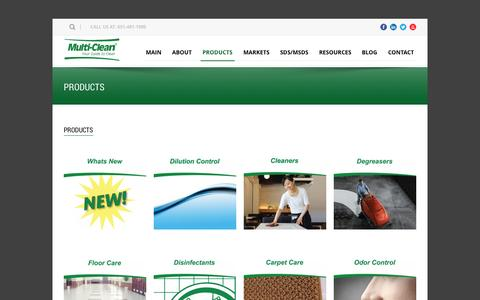 Screenshot of Products Page multi-clean.com - Multi-Clean  Products - Multi-Clean - captured Oct. 7, 2014