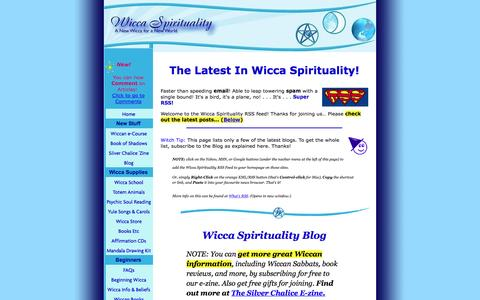 Screenshot of Blog wicca-spirituality.com - The Latest In Wicca Spirituality! - captured Aug. 26, 2016