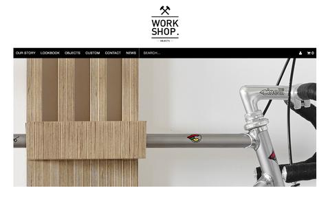 Screenshot of Home Page work-shop.net.au - WORK SHOP OBJECTS | WORK-SHOP by MGDC - captured Oct. 7, 2014