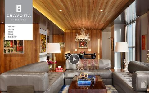Screenshot of Home Page cravottainteriors.com - Cravotta Interiors | Interior Design | Austin | Residential | Commercial - captured Sept. 30, 2014