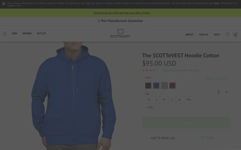 The Hoodie Cotton | SCOTTeVEST
