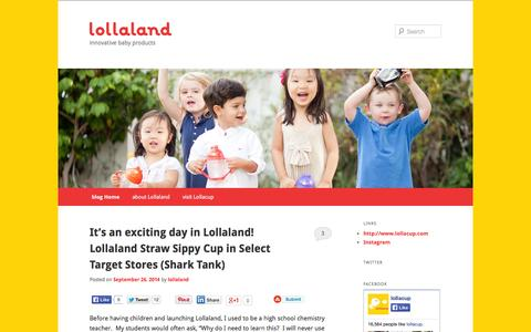 Screenshot of Blog lollaland.com - lollaland blog - captured Oct. 3, 2014