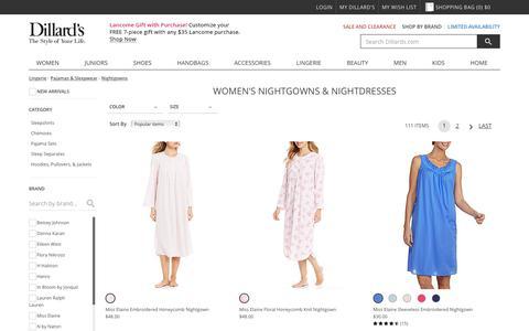 Lingerie | Pajamas & Sleepwear | Nightgowns | Dillards.com