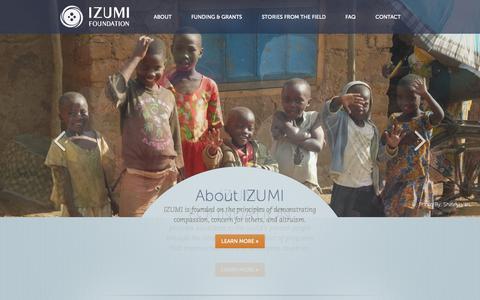 Screenshot of Home Page izumi.org - Home   Izumi - captured Oct. 6, 2014