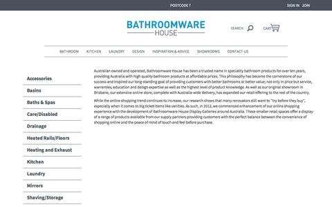 ABOUT US | Bathroomware House