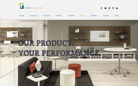 Screenshot of Press Page interiorresourcesdfw.com - Interior Resources   Office Furniture Dealership - captured Oct. 15, 2017