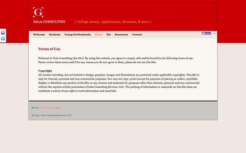 Screenshot of Terms Page galaconsulting.com - Terms of Use   Gala Consulting - captured Oct. 1, 2014