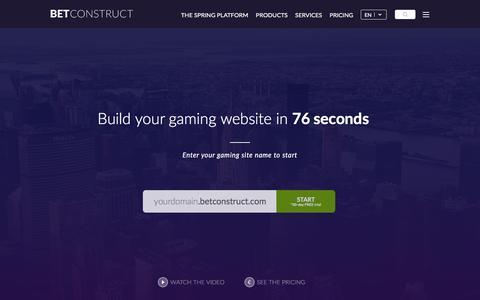 Screenshot of Trial Page betconstruct.com - Sales - captured Nov. 26, 2015