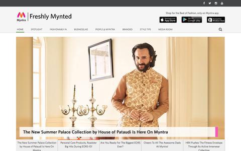 Screenshot of Blog myntra.com - Myntra: Myntra Blog ,Freshly Mynted – Myntra.com - captured July 5, 2019