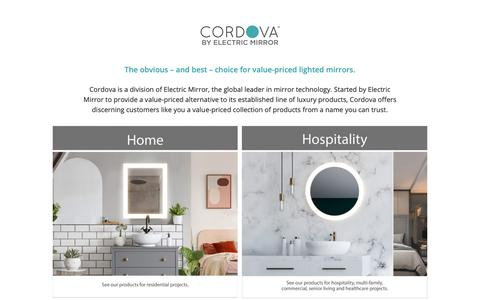 Screenshot of Home Page cordovamirrors.com - Homepage   Cordova Mirrors - captured Nov. 5, 2018