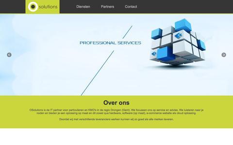 Screenshot of Home Page osolutions.be - OSolutions | De IT Partner voor particulieren en KMO's in Gent (Drongen) - captured March 8, 2016