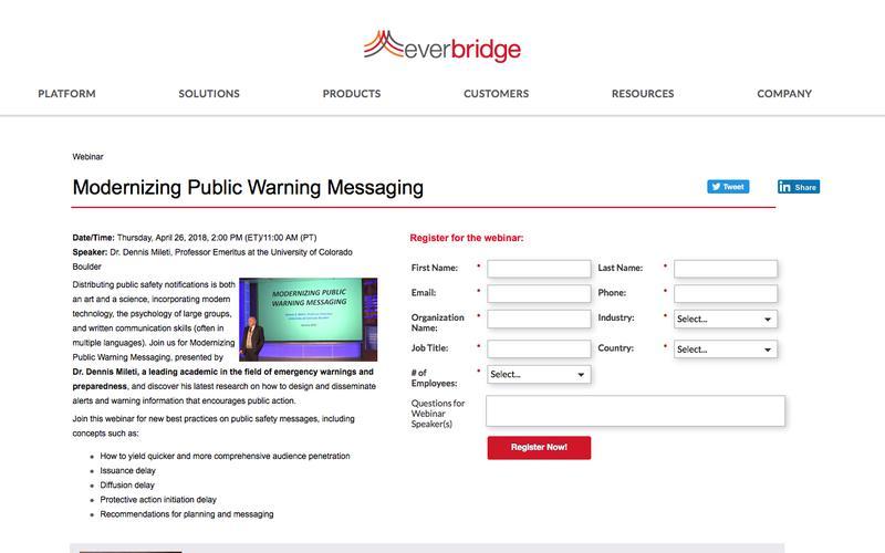 Modernizing Public Warning Messaging