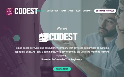 Screenshot of About Page codesthq.com - About us - captured Nov. 20, 2018