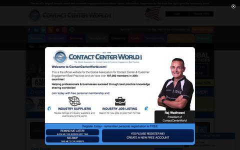 Screenshot of Case Studies Page contactcenterworld.com - Contact Center Case Studies - captured July 5, 2017