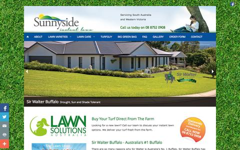 Screenshot of Home Page sunnysideinstantlawn.com.au - Adelaide Instant Lawn Suppliers   Sir Walter Buffalo Instant Lawn - captured Oct. 8, 2014