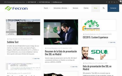 Screenshot of Blog fecron.com - Blog | Fecron � The CXM Experts - captured Jan. 8, 2016