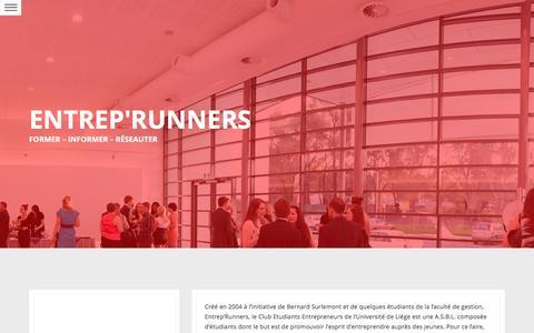 Screenshot of Home Page entreprunners.be - Entrep'Runners   Former – Informer – Réseauter - captured Dec. 10, 2015
