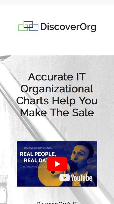 Intelligence Platform: Accurate IT Organizational Charts | DiscoverOrg