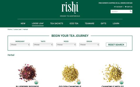 Organic Herbal Tea |  Rishi Tea