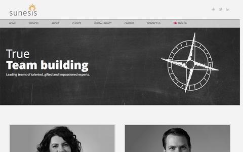 Screenshot of Team Page sunesis.ca - Leadership | Sunesis Consulting - captured Oct. 8, 2014