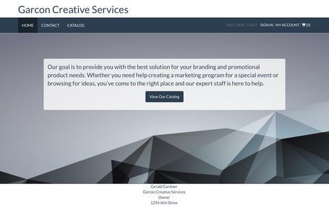 Screenshot of Home Page garcon.net - Home | Garcon Creative Services - captured Nov. 9, 2018