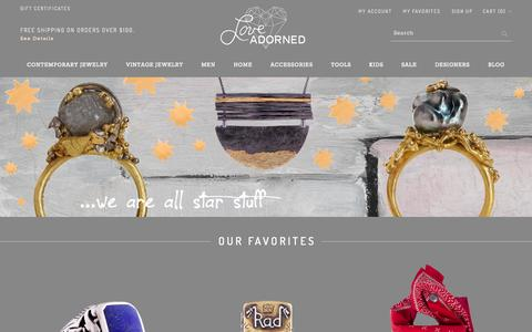 Screenshot of Home Page About Page Privacy Page Contact Page Signup Page Jobs Page Login Page Terms Page loveadorned.com - Love Adorned | Fine Jewelry, One of a kind Jewelry, and accessories for the home - captured Sept. 25, 2014