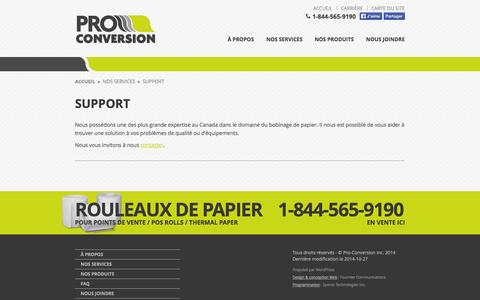 Screenshot of Support Page proconversion.com - Pro-Conversion » Support - captured Nov. 2, 2014