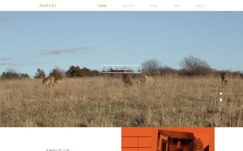Screenshot of Home Page happymatter.com - happymatter - captured Oct. 17, 2017
