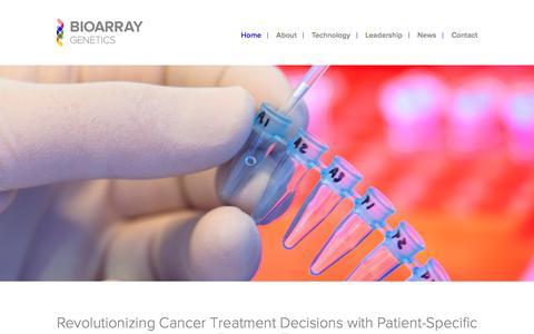 Screenshot of Home Page bioarray.us - Homepage - Bioarray Genetics Bioarray Genetics - captured Nov. 22, 2016