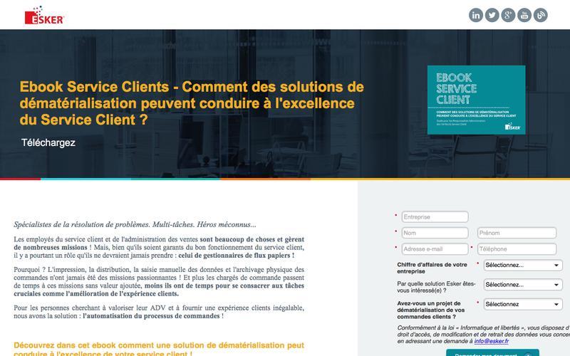 Ebook Service Clients - Comment des solutions de dématérialisation peuvent conduire à l'excellence du Service Client ?