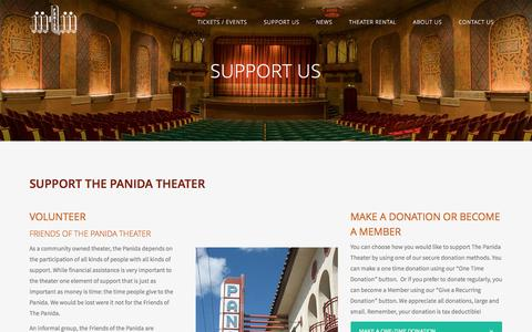 Screenshot of Support Page panida.org - Support Us - captured April 29, 2017