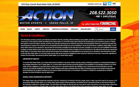 Screenshot of Terms Page actionmotor.com - Terms | Action Motor Sports | Idaho Falls - captured Oct. 4, 2014